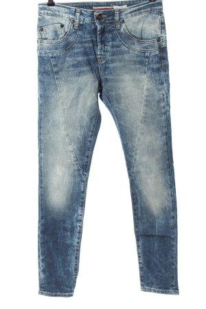 Please Jeans a vita alta blu stile casual