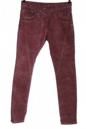 Please Jeans taille haute rouge élégant