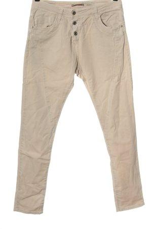 Please High Waist Jeans cream casual look