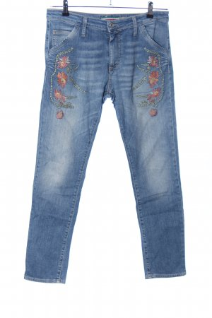 Please High Waist Jeans blau-braun Casual-Look