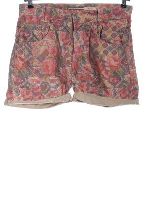 Please High-Waist-Shorts Allover-Druck Casual-Look