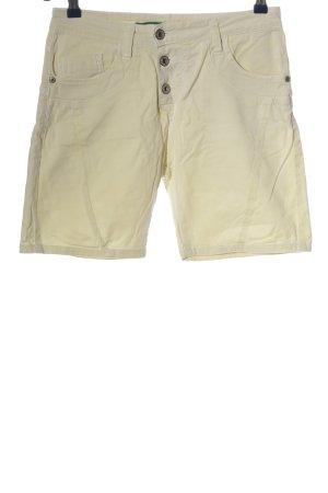 Please Pantalón corto de talle alto blanco puro look casual