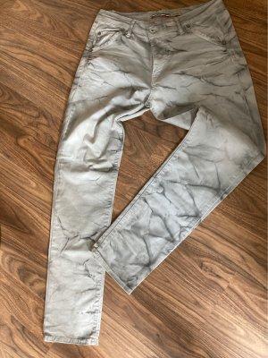 Please Jeans elasticizzati bianco-grigio