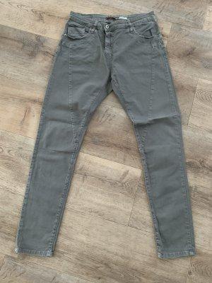 Please Pantalón de cinco bolsillos gris Algodón
