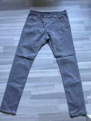 Please Pantalone boyfriend grigio-verde-grigio