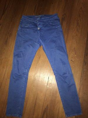 Please Pantalone boyfriend blu neon-blu acciaio