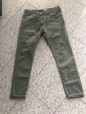 Please Jeans taille basse gris vert-kaki