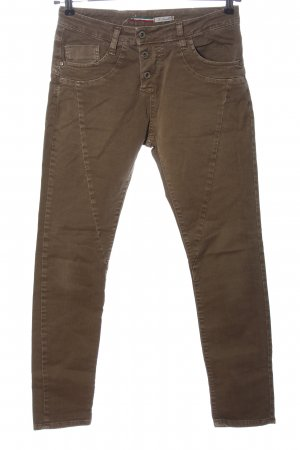 Please Low-Rise Trousers brown casual look