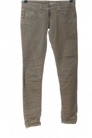 Please Pantalone a vita bassa marrone stile casual