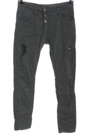Please Jeans a vita alta grigio chiaro stile casual