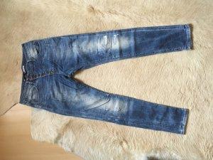 Please Boyfriend jeans staalblauw-azuur Katoen