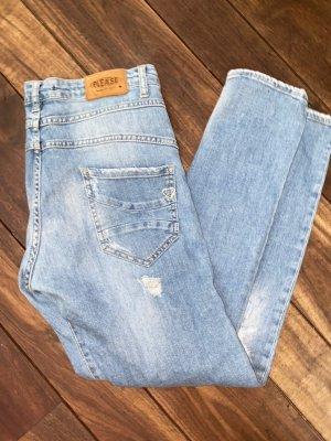 PLEASE Denim Jeans baggy bleu
