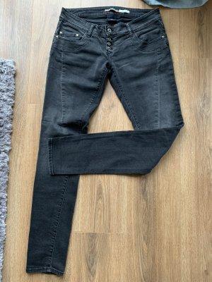 Please Jeans Boyfriendstil Small S 36 grau anthrazit Hose