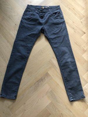 Please Jeans boyfriend grigio scuro