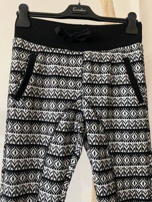 Please Pantalone boyfriend nero-bianco