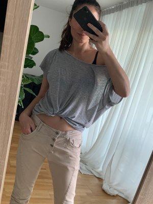 Please Jeans - lässige Boyfriend Jeans in leichter Crinkle Optik und krempelbarem Bein