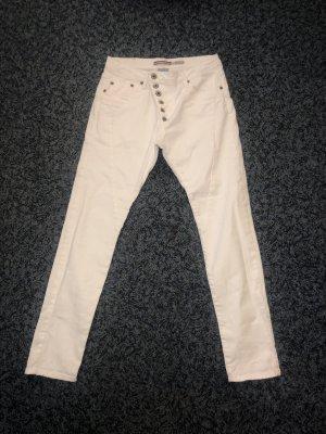 Please Jeans vita bassa bianco