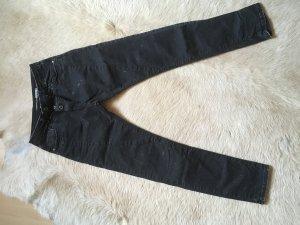 Please Jeans boyfriend argenté-noir coton