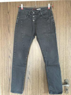 Please Jeans boyfriend nero Cotone