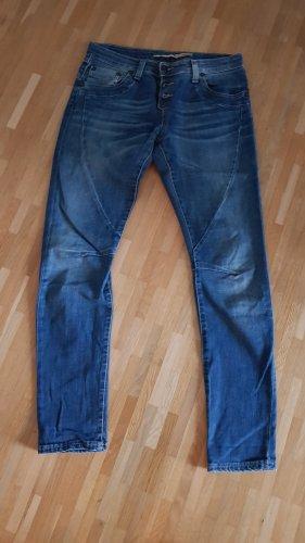 Please Jeans vita bassa blu