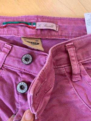Please Jeans a gamba dritta rosso lampone