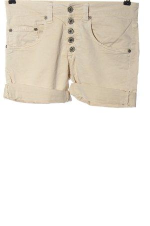 Please Pantalón corto de tela vaquera crema look casual