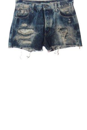 Please Jeansshorts blau-wollweiß Casual-Look