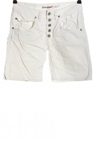 Please Jeansshorts weiß Casual-Look