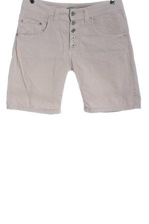 Please Pantaloncino di jeans grigio chiaro motivo a righe stile casual