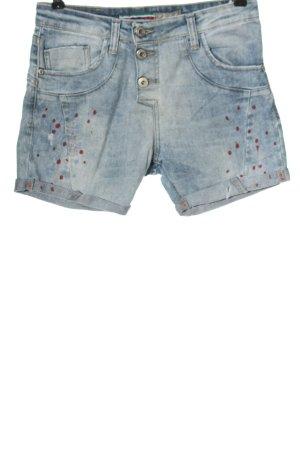 Please Jeansowe szorty niebieski-czerwony W stylu casual