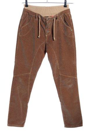 Please Pantalone peg-top marrone stile casual