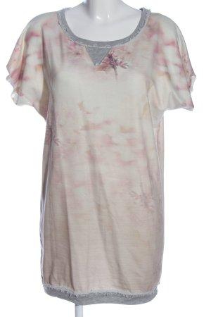 Please Vestido de manga corta rosa-gris claro look casual