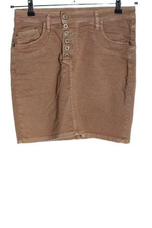 Please Minifalda marrón look casual