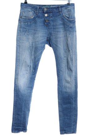 Please Now Jeans taille basse bleu style décontracté