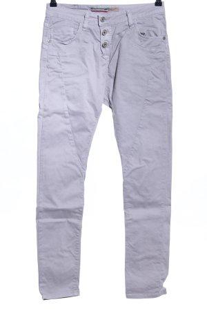 Please Now Jeans cigarette gris clair style décontracté