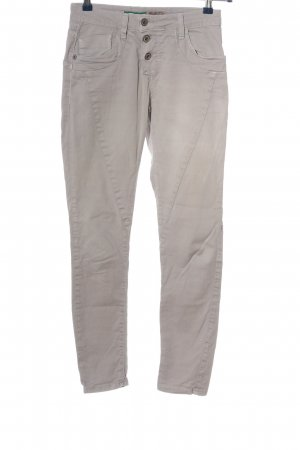 Please Now Slim Jeans light grey casual look