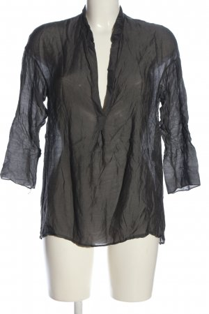 Please Oversized Bluse silberfarben Casual-Look
