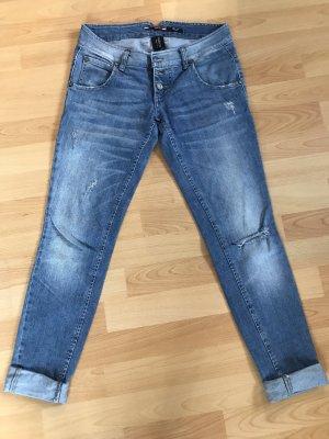 Please Jeans taille basse bleu