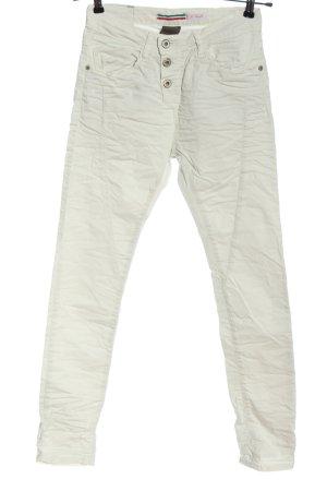 Please Pantalón de tubo blanco look casual