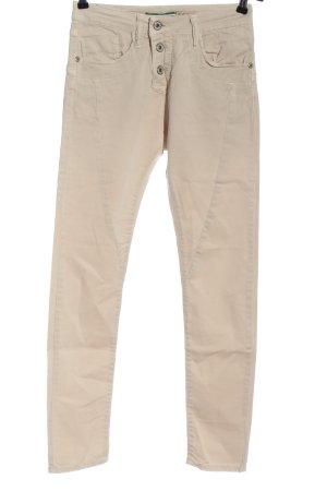 Please Pantalón de tubo crema look casual