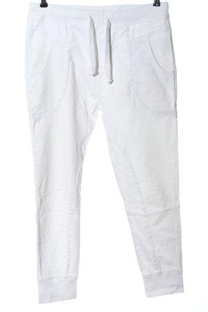 Please Pantalone a sigaretta bianco stile casual