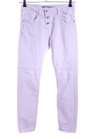 Please Pantalon cigarette violet style décontracté