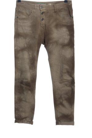 Please Pantalone a sigaretta marrone motivo astratto stile casual