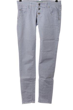 Please Spodnie rurki jasnoszary W stylu casual