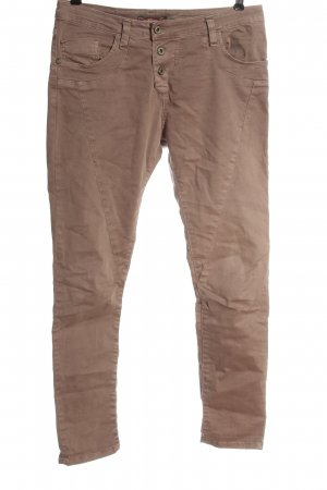 Please Drainpipe Trousers brown casual look