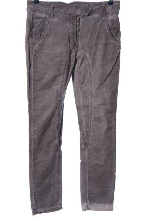 Please Pantalon cigarette gris clair style décontracté