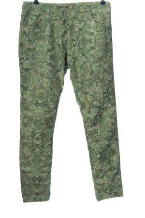 Please Pantalon cigarette vert imprimé allover style décontracté