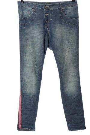 Please Jeans a sigaretta motivo a righe stile casual