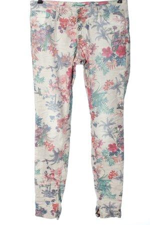 Please Jeans a sigaretta stampa integrale stile casual