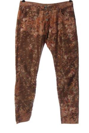 Please Jeans a sigaretta marrone stampa integrale stile casual
